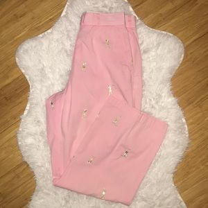 Lilly Pulitzer Pants - Lilly Pulitzer pink pants with golfers